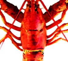 Red Lobster - Full Body Seafood Art Sticker
