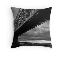 sunset at hellgate Throw Pillow