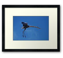 A Step into the Blue Framed Print