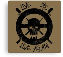 I live again (black) Canvas Print