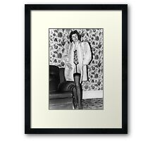 Fake fur Framed Print