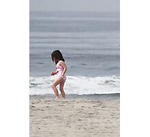 Shell Seeker on the Beach Photographic Print