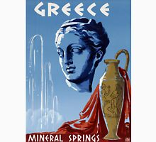 Greece Mineral Springs Vintage Travel Poster Restored Unisex T-Shirt