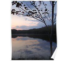 Twilight at Hurley Pond, New Jersey Nature Poster