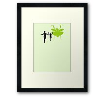 Mantis love Framed Print