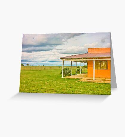 Rural House Greeting Card