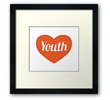 Youth Concept Graphic Symbol Pattern Framed Print