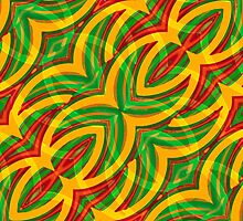 Tropical Colors Abstract Geometric Print by DFLC Prints