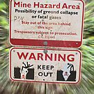 Mine Hazard Danger Sign by Stacey Lynn Payne