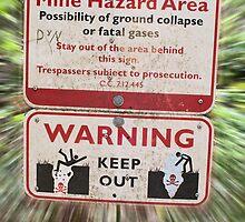 Mine Hazard Danger Sign by Stacey Lynn Payne