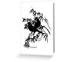 Black peaceful dove Greeting Card