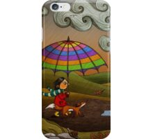 Autumn (Fox and Girl) iPhone Case/Skin