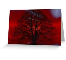 Gothic tree  Greeting Card