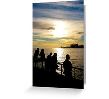 Teens Watching the Sunset Greeting Card