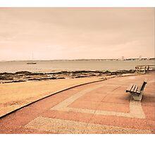 Lonely Boardwalk in Punta del Este Photographic Print