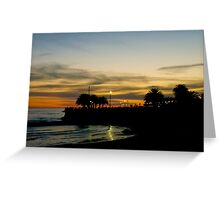Sunset in Montevideo Coast Greeting Card