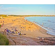 Crowded enjoying summer at the beach Photographic Print