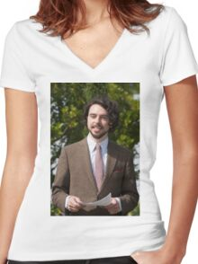 Ryan Gage at Hampton Court Palace flower show 2015 Women's Fitted V-Neck T-Shirt