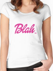 Blah Barbie Women's Fitted Scoop T-Shirt
