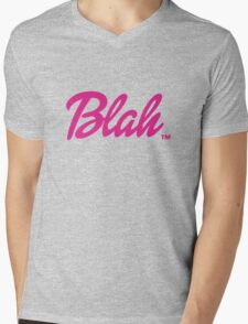 Blah Barbie Mens V-Neck T-Shirt