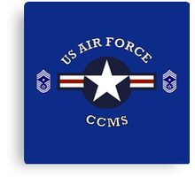 USAF Command Chief Master Sergeant Canvas Print
