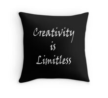 Creativity is Limitless Two Throw Pillow