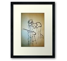 CLOTHED FIGURE DRAWING 1 Framed Print