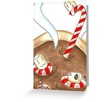 Hot Chocolate Pool Party Greeting Card