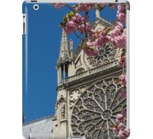 Notre Dame Pink Flowers iPad Case/Skin