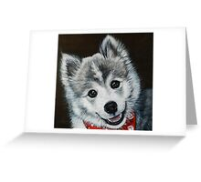 Oreo the Pomsky  Greeting Card