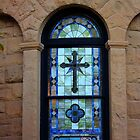 Stanford University Campus. A Stained Glass Window of the Memorial Church. California 2009 by Igor Pozdnyakov