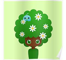 Blooming afro girl Poster