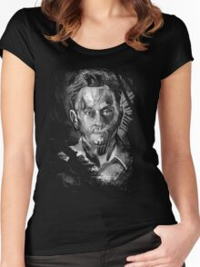 Ben Linus Portrait from Lost Women's Fitted Scoop T-Shirt