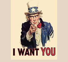 Americana, America, I Want You! Uncle Sam Wants You. Recruitment Poster, USA, T-Shirt