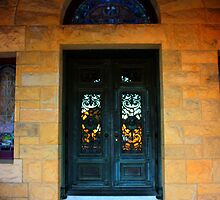 Stanford University Campus. A Church Door. California 2009 by Igor Pozdnyakov