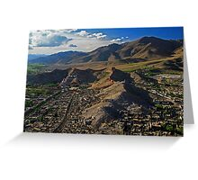 View From Gyantse D'zong, Tibet Greeting Card
