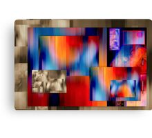 The temptation of colours on a dull background Canvas Print