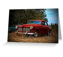 Abandoned Volvo Greeting Card
