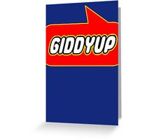 Giddyup, Bubble-Tees.com Greeting Card