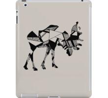 Timid Minimalist Graphic Moose iPad Case/Skin