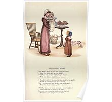 LIttle Ann and Other Poems by Jane and Ann Taylor art Kate Greenaway 1883 0039 Negligent Mary Poster