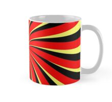 Spiral Black Red Yellow Mug