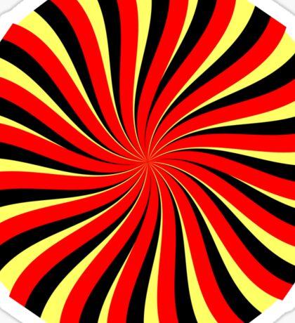 Spiral Black Red Yellow Sticker