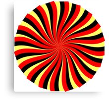 Spiral Black Red Yellow Canvas Print