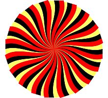Spiral Black Red Yellow Photographic Print