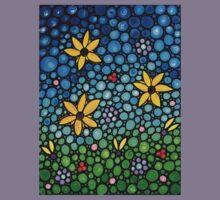 Spring Maidens - Flower Garden Mosaic Landscape Abstract Art Print Kids Clothes