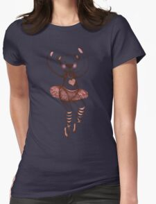 Ballerina Teddy Womens Fitted T-Shirt