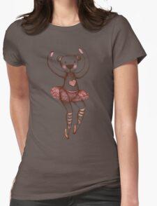 Ballerina Teddy Womens Fitted T-Shirt