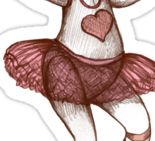 Ballerina Teddy Sticker