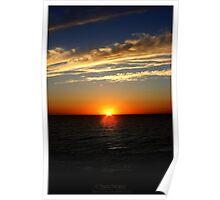 Indian Ocean Sun Set Poster